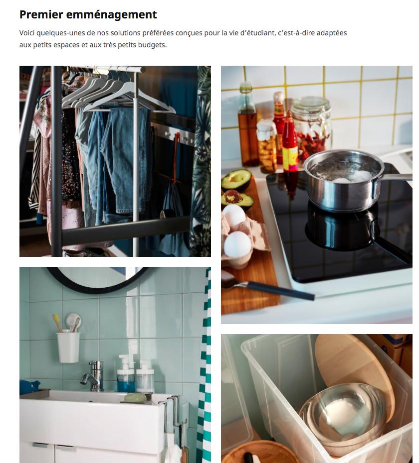 Des solutions IKEA adaptées pour le premier emménagement d'un étudiant : des petits espaces, des petits budgets