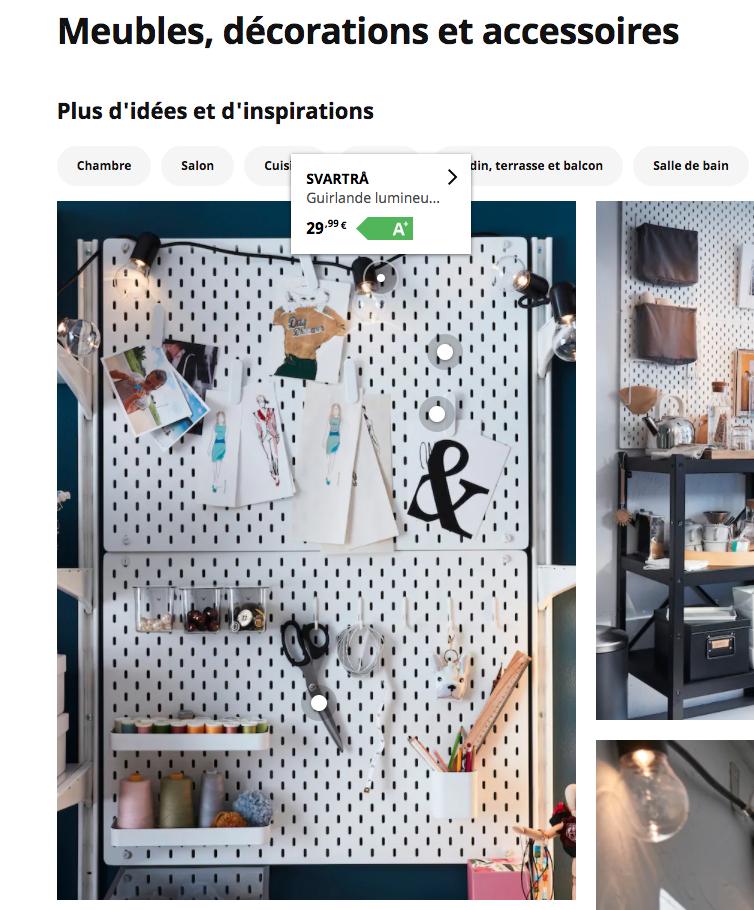 """Des idées et des inspirations """"shoppable"""" sur la page d'accueil IKEA"""
