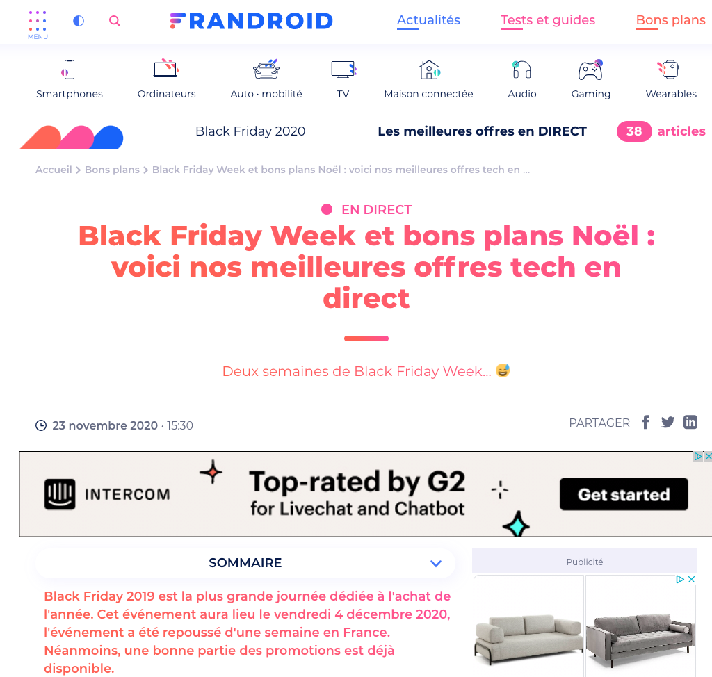 La couverture du Black Friday chez Frandroid