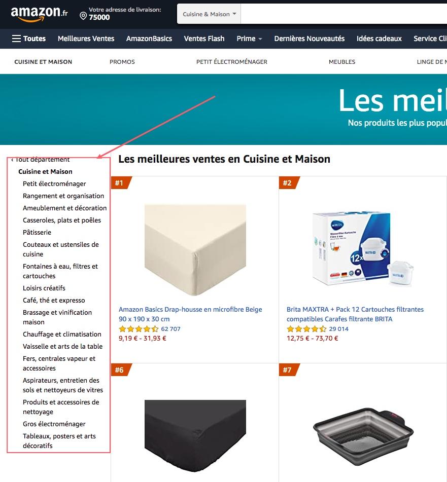 Les meilleures ventes Amazon par catégories